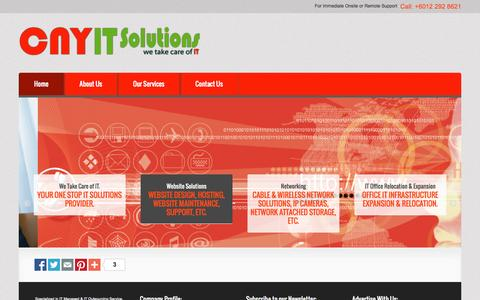 Screenshot of Home Page cnyitsolutions.net - CNY IT Solutions & IT Services Malaysia. - captured Oct. 1, 2014