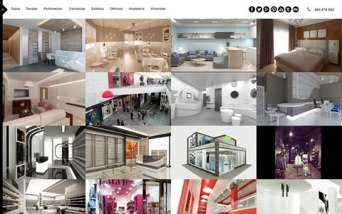 Screenshot of Home Page ag-interiorismo.es - Proyectos - Estudio de Interiorismo y decoración | Granada, Málaga, Jaén y Almería - captured Dec. 22, 2015