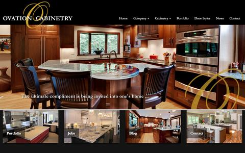 Screenshot of Home Page ovationcabinetry.com - Home - Ovation Cabinetry - captured Oct. 9, 2014