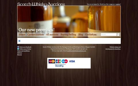 Screenshot of Maps & Directions Page scotchwhiskyauctions.com - Scotch Whisky Auctions | Our new premises! - captured Sept. 23, 2014