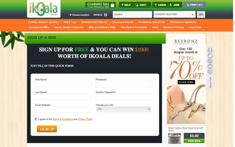Screenshot of Signup Page ikoala.com.au - Create New Customer Account - captured Sept. 25, 2014