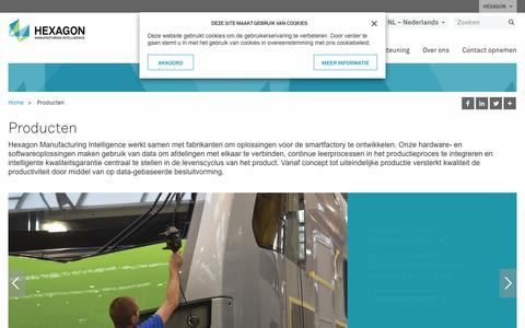 Screenshot of Products Page hexagonmi.com - Producten | Hexagon Manufacturing Intelligence - captured Oct. 21, 2018