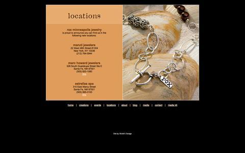 Screenshot of Locations Page blackbettyposters.com - ROX Minneapolis Locations - captured Oct. 6, 2014