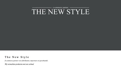 Screenshot of Home Page thenewstyle.nl - The New Style BV - E-commerce partner - captured Feb. 16, 2016