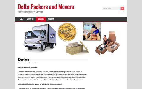 Services | Delta Packers and Movers