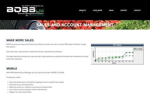 Sales and Account Management  |  BOSS LM