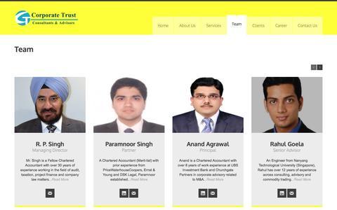 Screenshot of Team Page corporatetrust.in - Corporate-Trust » Team - captured July 16, 2016