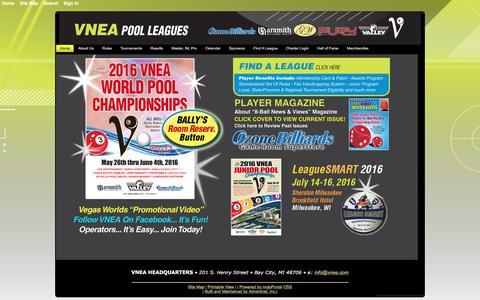 Screenshot of Home Page vnea.com - Home - VNEA - captured Feb. 16, 2016
