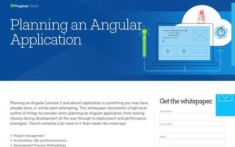 Screenshot of Landing Page telerik.com - Planning An Angular Application - captured Jan. 20, 2018