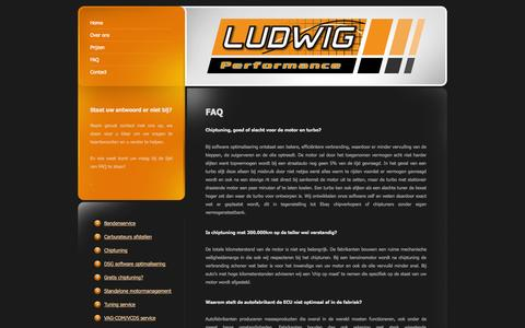 Screenshot of FAQ Page ludwigperformance.nl - FAQ - captured Sept. 30, 2014