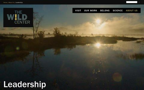 Screenshot of Team Page wildcenter.org - Leadership | Wild Center - captured May 30, 2019