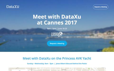 Connect with DataXu at Cannes Lions 2017