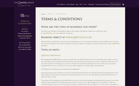 Screenshot of Terms Page qhotels.co.uk - Our terms and conditions - QHotels - captured May 13, 2017