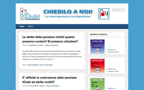 Screenshot of Blog ictubi.com - Consulenza Tecnica ICtubi | La nostra esperienza a tua disposizione! - captured Sept. 30, 2014