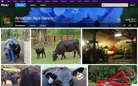 Screenshot of Flickr Page flickr.com - Flickr: American Alps Ranch's Photostream - captured Oct. 23, 2014