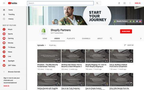 Shopify Partners - YouTube - YouTube