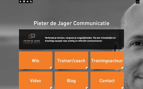 Screenshot of Blog pieterdejager.nl - Pieter de Jager communicatie | Voor al uw communicatietrainingen - captured Oct. 2, 2014