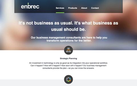 Screenshot of Team Page enbrec.com - Business Management Consultant with IT Expertise | Enbrec | Enbrec - captured Jan. 29, 2016