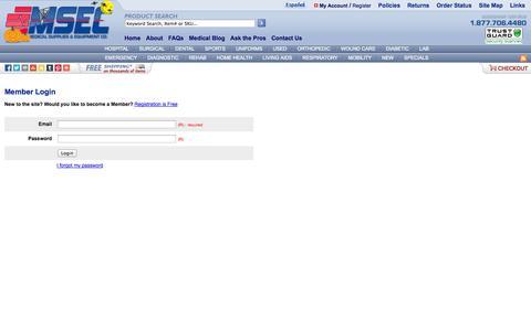Screenshot of Login Page medical-supplies-equipment-company.com - Medical Supplies & Equipment Company - captured Oct. 31, 2014
