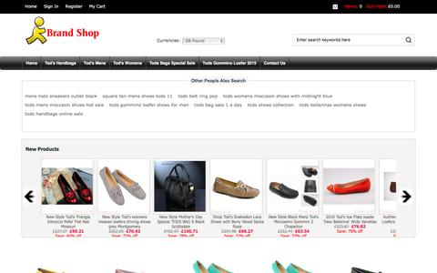 Screenshot of Home Page t3web.co.uk - Outlet Tod's Handbags, Shop Boots, Online Bags - captured Jan. 10, 2016