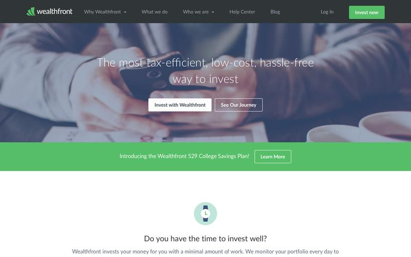 Screenshot Investment Management, Online Financial Advisor | Wealthfront