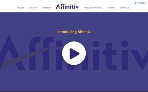 Screenshot of Home Page affinitiv.com - Affinitiv - captured July 18, 2017