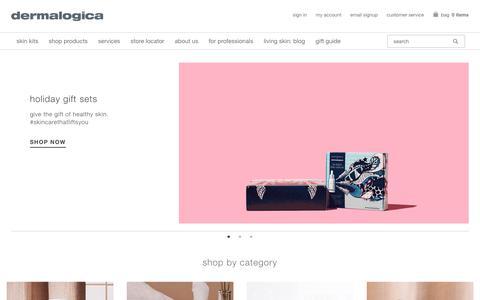 Screenshot of Home Page dermalogica.com - Dermalogica® Skin Care | Official Site - captured Nov. 18, 2019