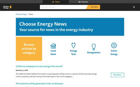 Screenshot of Press Page chooseenergy.com - News - Choose Energy - captured Jan. 17, 2018