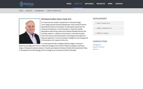 Screenshot of Team Page gemmuspharma.com - Daryl H. Faulds, Ph.D. - captured Sept. 16, 2014
