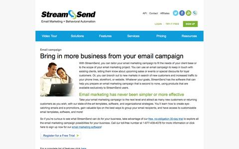 Email Campaign, Email Marketing, Email Marketing Campaign - StreamSend