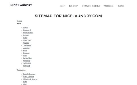 Screenshot of Site Map Page nicelaundry.com - Sitemap | NICE LAUNDRY | NICE LAUNDRY - captured Sept. 22, 2014