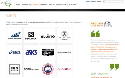 eCommerce solutions for large brands - PFSweb Clients