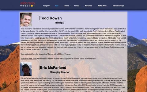 Screenshot of Team Page eldoradotgcolorado.com - Team - Eldorado Denver - captured March 3, 2016