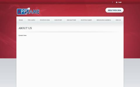 Screenshot of About Page appsame.com - About Us - captured Sept. 13, 2014