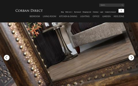 Screenshot of Home Page corbandirect.co.uk - Furniture | Homewares | Home & Garden - With Free Next Day Delivery Available From Corban Direct - captured Sept. 12, 2014