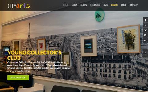 Screenshot of Home Page cityarts.org - CITYarts - captured Jan. 23, 2015