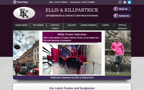 Screenshot of Home Page ellisandkillpartrick.com - Ellis & Killpartrick Opticians - Cheltenham, Bristol - captured Nov. 6, 2016