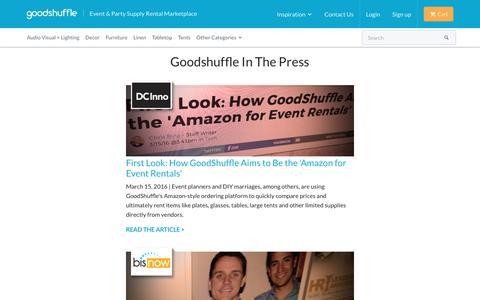 Screenshot of Press Page goodshuffle.com - Press : goodshuffle.com - captured May 21, 2017