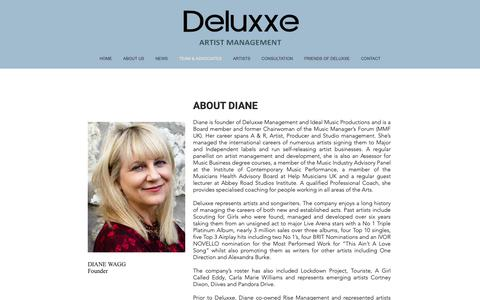 Screenshot of About Page deluxxe.co.uk - Deluxxe Management | Team - captured Oct. 20, 2018