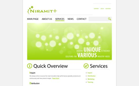 Screenshot of Services Page niramit.com - Services «  Niramit Plus Co., Ltd. – บริษัท นิรมิต พลัส จำกัด / Beauty distributor in Thailand - captured Oct. 26, 2014