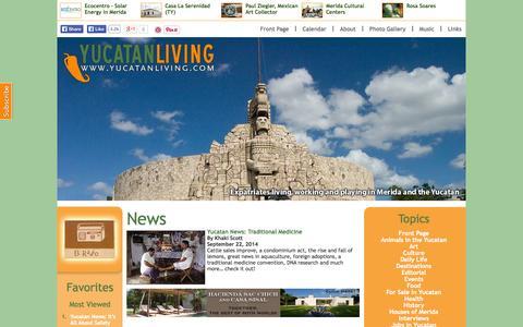 Screenshot of Press Page yucatanliving.com - Yucatan Living » Categories » News - captured Sept. 23, 2014