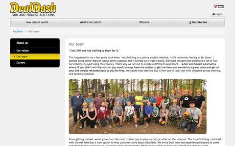 Screenshot of Team Page dealdash.com - DealDash™ - Our team - captured Dec. 3, 2015