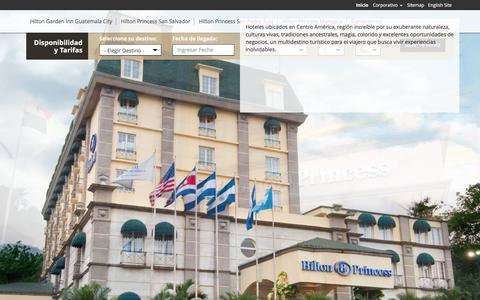 Screenshot of Home Page hotelesprincess.com - Hoteles Hilton Princess - captured Feb. 19, 2016