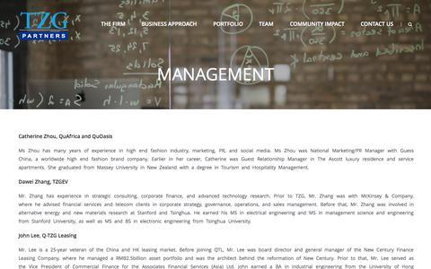 Screenshot of Team Page tzgpartners.com - Management | TZG Partners - captured Sept. 30, 2014