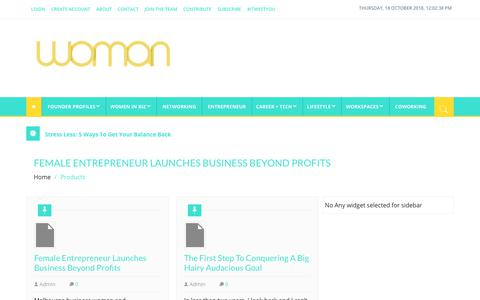 Screenshot of Products Page woman.com.au - Products Archives - Woman.com.au - captured Oct. 18, 2018