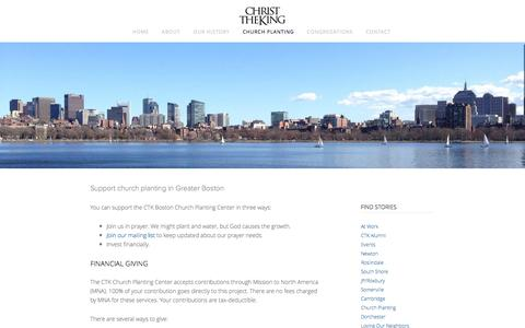 Screenshot of Support Page ctkboston.org - Support — Christ the King Boston - captured Oct. 2, 2014