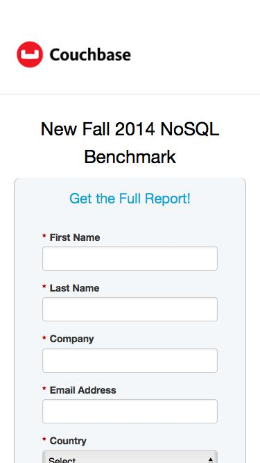New Fall 2014 NoSQL Benchmark