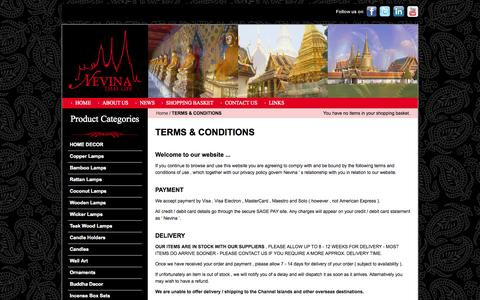 Screenshot of Terms Page nevinathailife.co.uk - TERMS & CONDITIONS - captured Oct. 26, 2014
