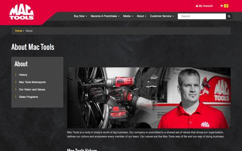 Screenshot of About Page mactools.com - About Mac Tools Info Page - captured July 21, 2016