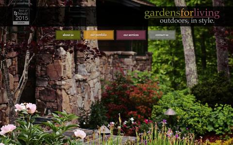 Screenshot of Home Page gardensforliving.com - Asheville Landscape Design | Asheville Landscape Installation - captured June 17, 2015